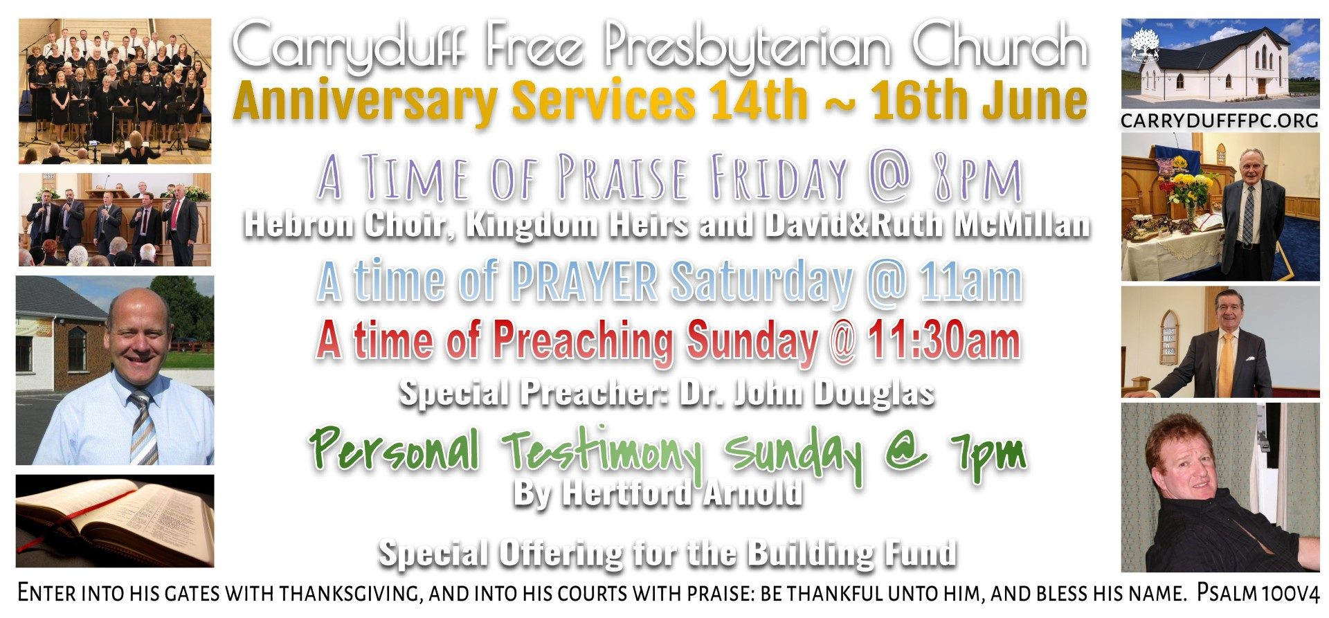 Invitation to our Anniversary Services – Carryduff Free Presbyterian