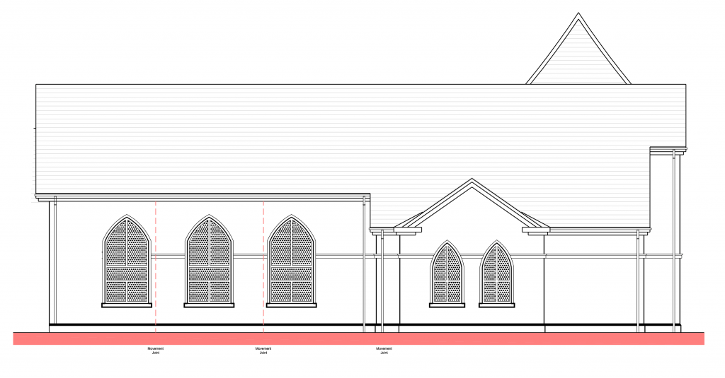 New church window designs carryduff free presbyterian church for Window design elevation